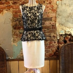 Black and White Dress, lace top
